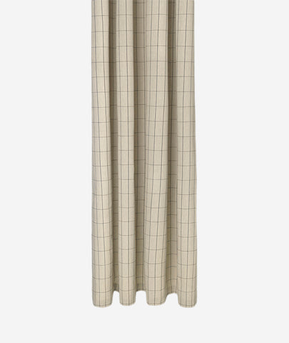 Grid Chambray Shower Curtain - BEAM