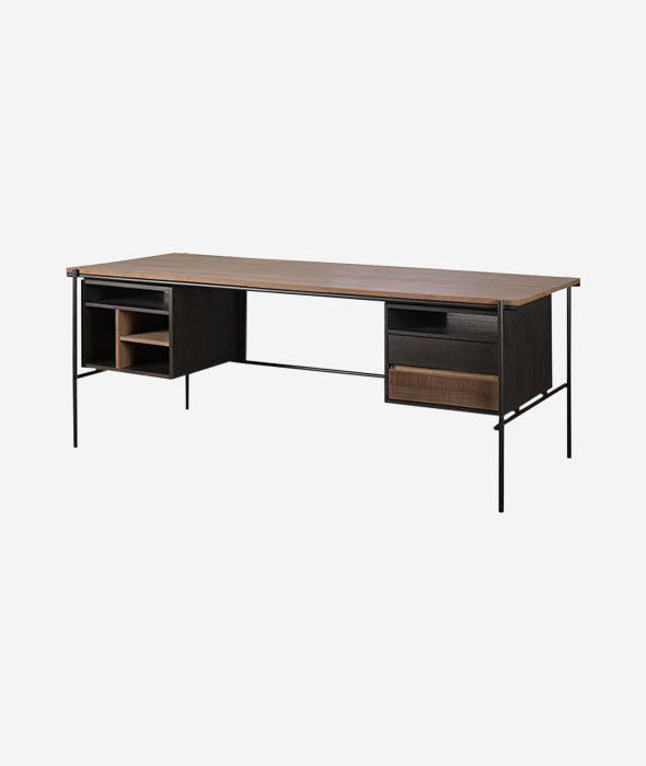 Oscar Desk w/Drawers Ethnicraft - BEAM // Design Store