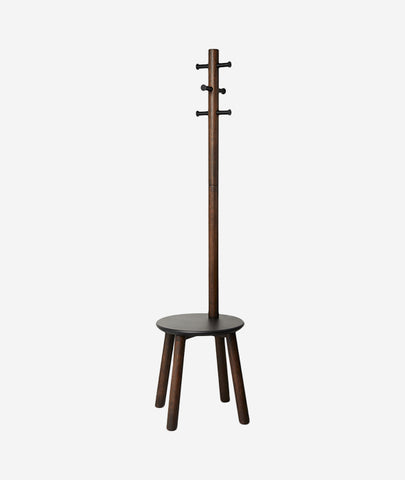 Pillar Stool + Coat Rack