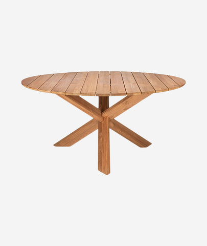 Teak Circle Outdoor Dining Table - More Options