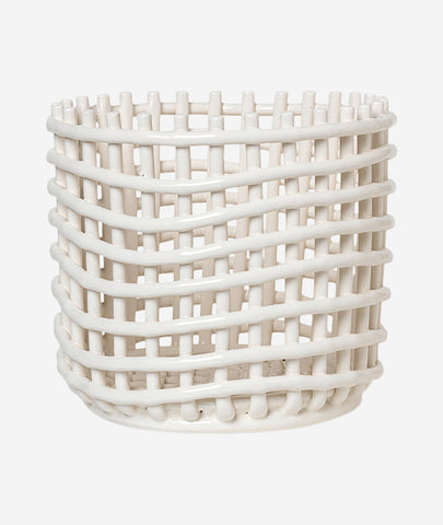 Ceramic Basket - 2 Colors
