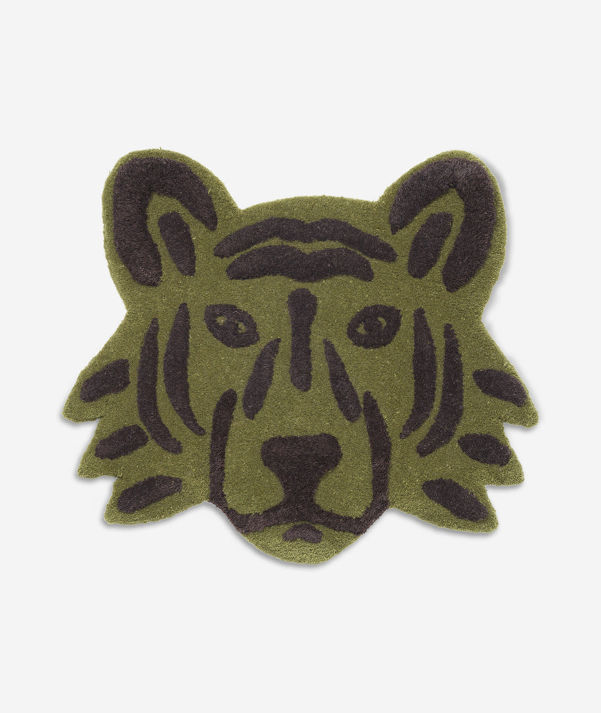 Tiger Head Tufted Rug