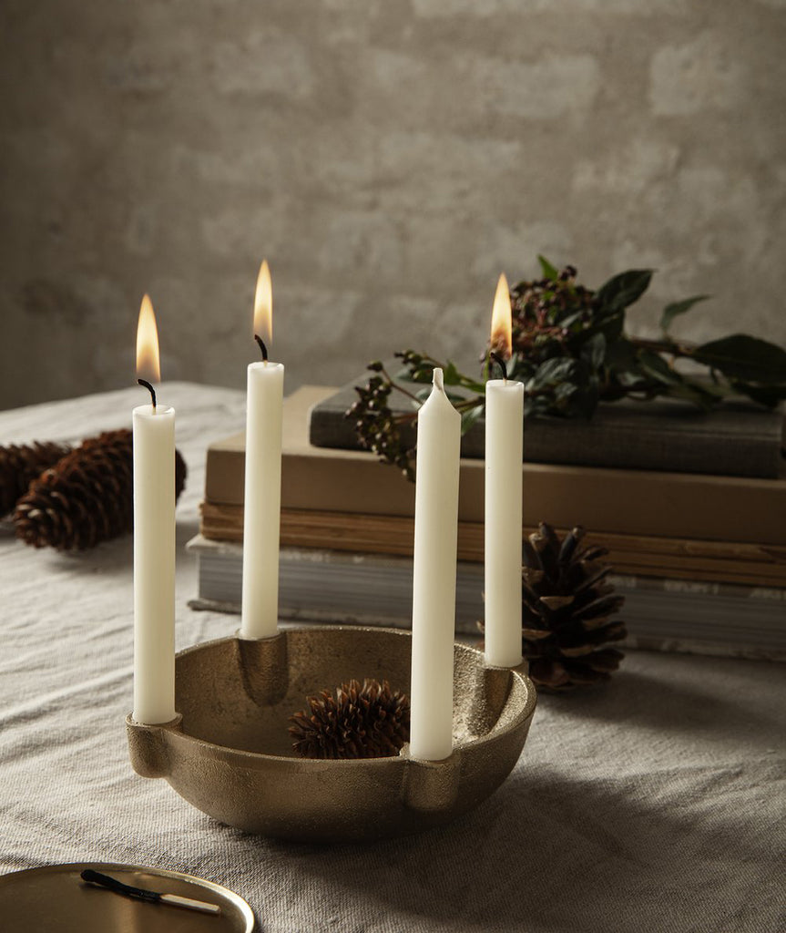 Bowl Metal Candle Holder - 2 Colors