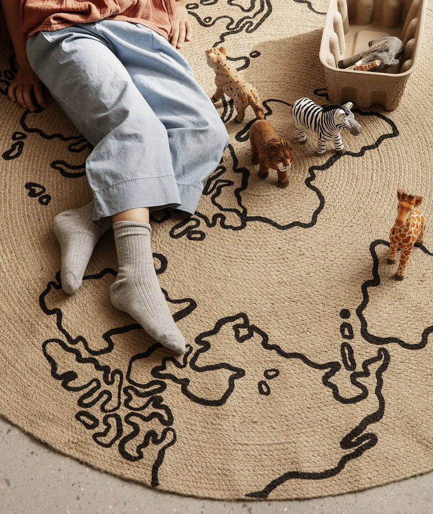 World Jute Rug - 2 Sizes