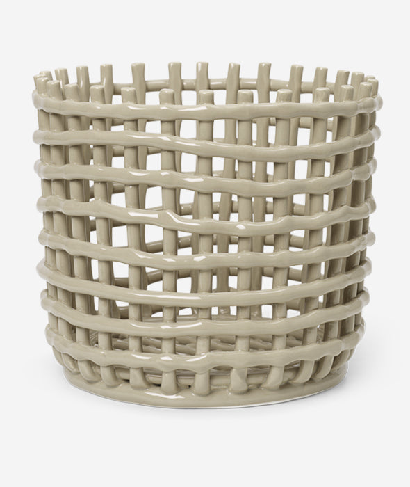 Ceramic Basket - 3 Colors