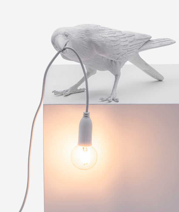 Bird Lamps White