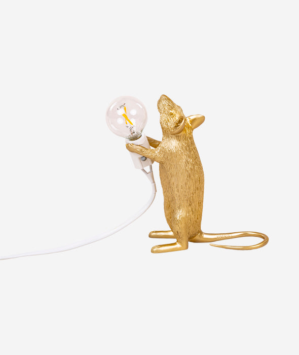 Gold Mouse Lamps
