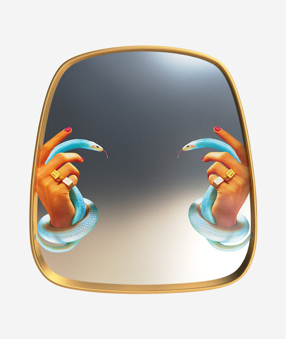 Toiletpaper Hands with Snakes Mirror Seletti x Toiletpaper - BEAM // Design Store