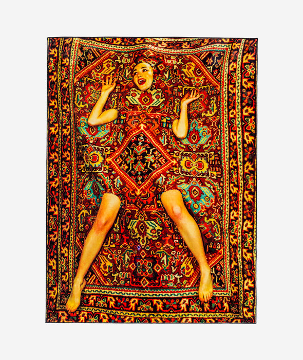 Lady on Carpet Rug Seletti x Toiletpaper - BEAM // Design Store