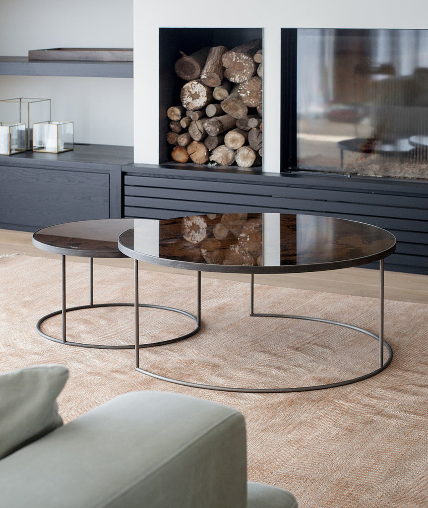 Aged Mirror Nesting Coffee Table Set - 3 Colors Ethnicraft - BEAM // Design Store