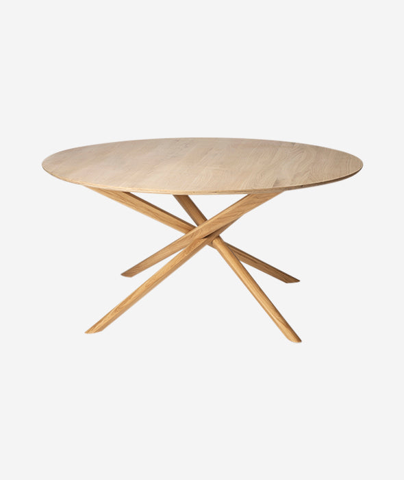 Mikado Round Dining Table Ethnicraft - BEAM // Design Store