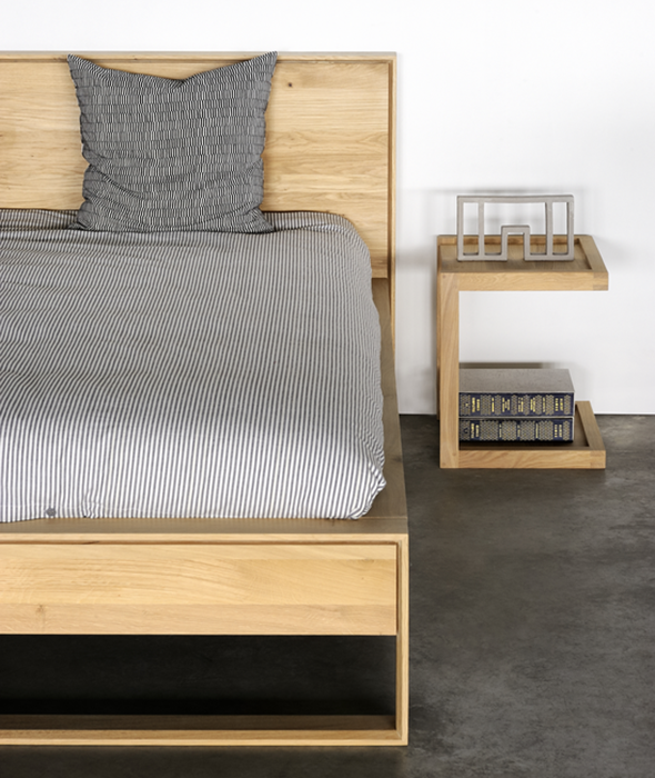 Oak Nordic II Bed - 2 Sizes Ethnicraft - BEAM // Design Store