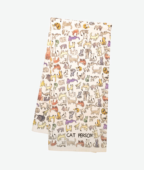 Cat Person Tea Towel Fishs Eddy - BEAM // Design Store