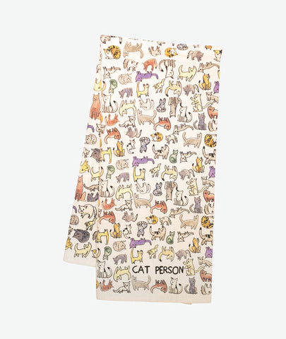 Cat Person Tea Towel