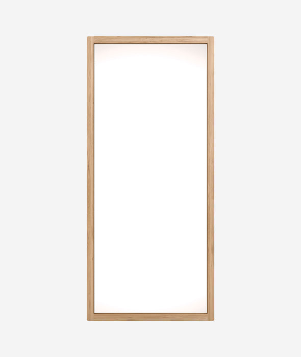 Oak Light Frame Floor Mirror Ethnicraft - BEAM // Design Store