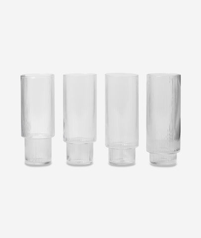 Ripple Long Drink Glasses set/4 Ferm Living - BEAM // Design Store
