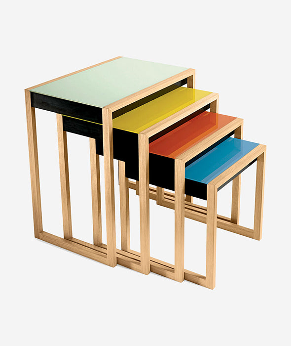 Josef Albers Nesting Table Set/4