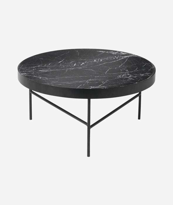 Black Marble Table Large Ferm Living - BEAM // Design Store