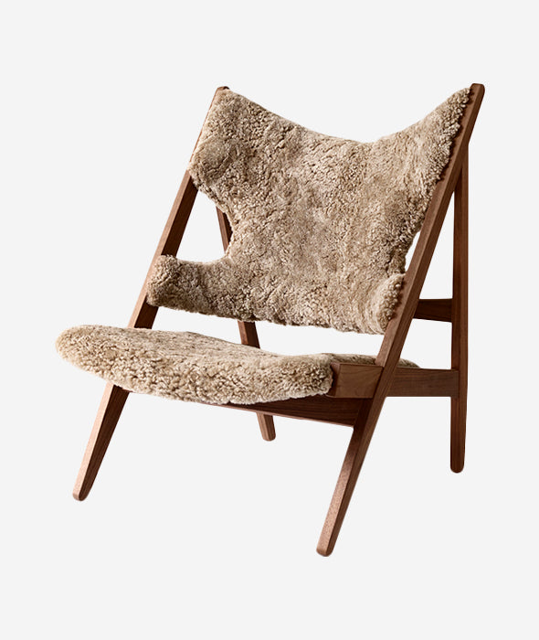 Knitting Lounge Chair Sheepskin - 3 Colors