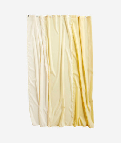 Aquarelle Vertical Shower Curtain - 3 Colors Hay - BEAM // Design Store
