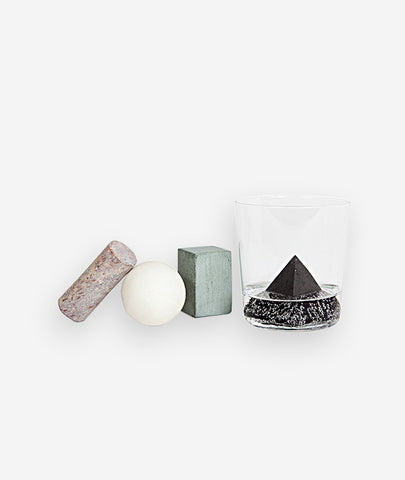 Geometric Drink Rocks Set/4 Areaware - BEAM // Design Store