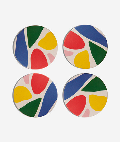 Bamboo Abstract Coasters Set of 4 Poketo - BEAM // Design Store