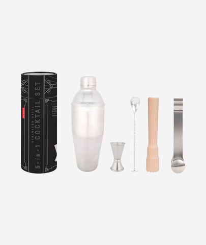 Stainless Barware Set/5 Kikkerland - BEAM // Design Store