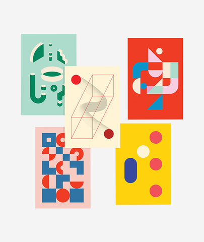 Bauhaus Postcards Set of 5 Poketo - BEAM // Design Store