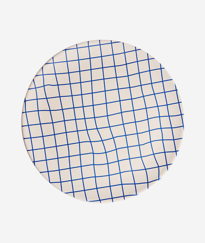 Bamboo Grid Dinner Plate Set of 4 Poketo - BEAM // Design Store