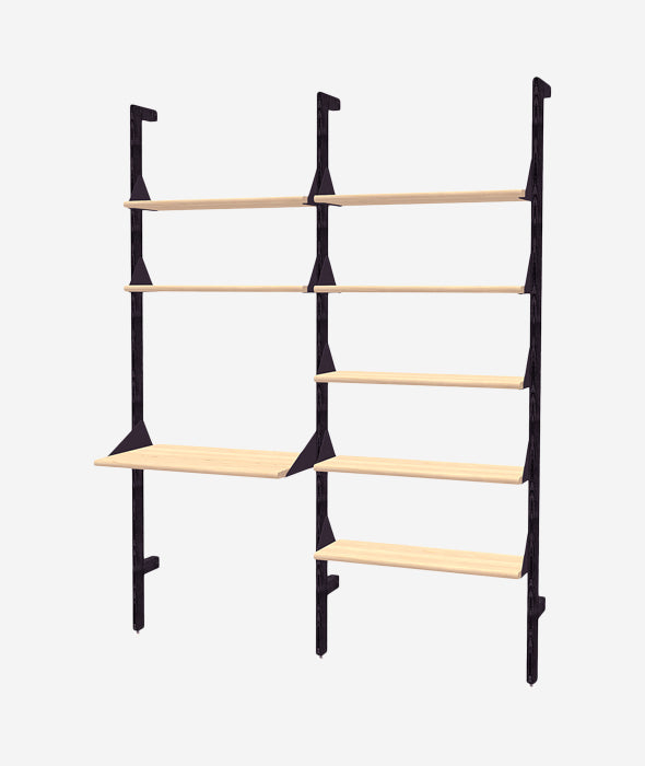 Branch 2 Shelving Unit with Desk - 3 Colors Gus* Modern - BEAM // Design Store
