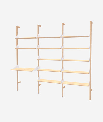 Branch 3 Shelving Unit with Desk Gus* Modern - BEAM // Design Store