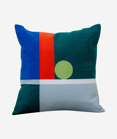 Dot Embroidered Pillow Dusen Dusen - BEAM // Design Store
