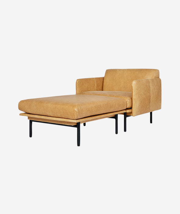 Foundry Leather Chaise - 2 Colors