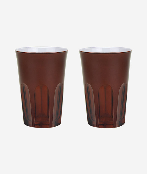 Rialto Tumbler Glass Muted Set/2 - 4 Colors
