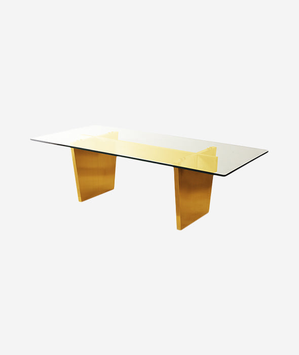 Aiden Dining Table Glass - 3 Colors Nuevo - BEAM // Design Store