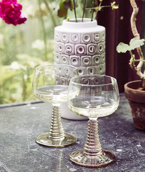 Retro Wine Glass - 2 Styles