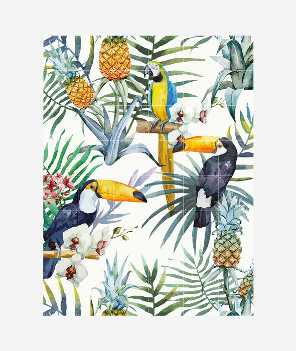 Tiger Jungle/Toucan Family Reversible Wall Art