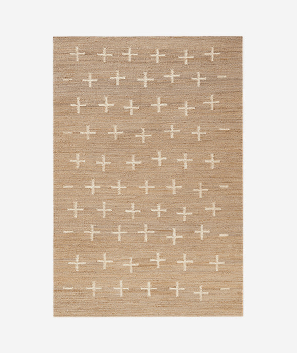 Jute Cross Rug - 6 Sizes