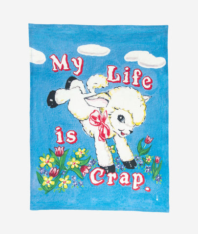 Life Is Crap x Magda Archer Tea Towel Third Drawer Down - BEAM // Design Store
