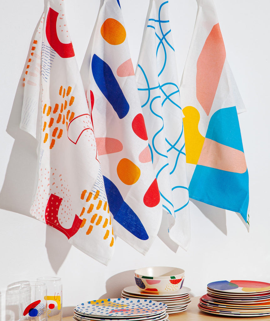 Blots Linen Tea Towels Set/2 Poketo - BEAM // Design Store