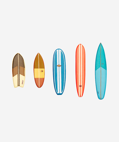 Surfboard Magnets Set/5 Kikkerland - BEAM // Design Store