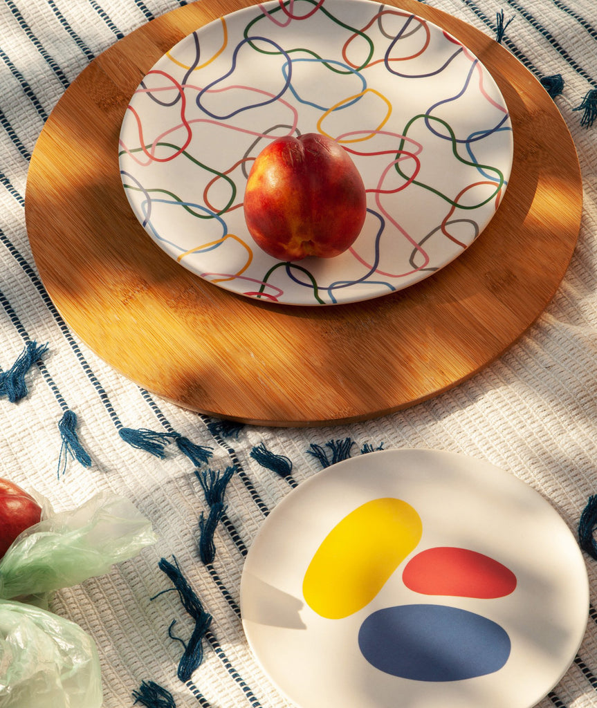 Bamboo Shapes Salad Plate Set of 4 Poketo - BEAM // Design Store