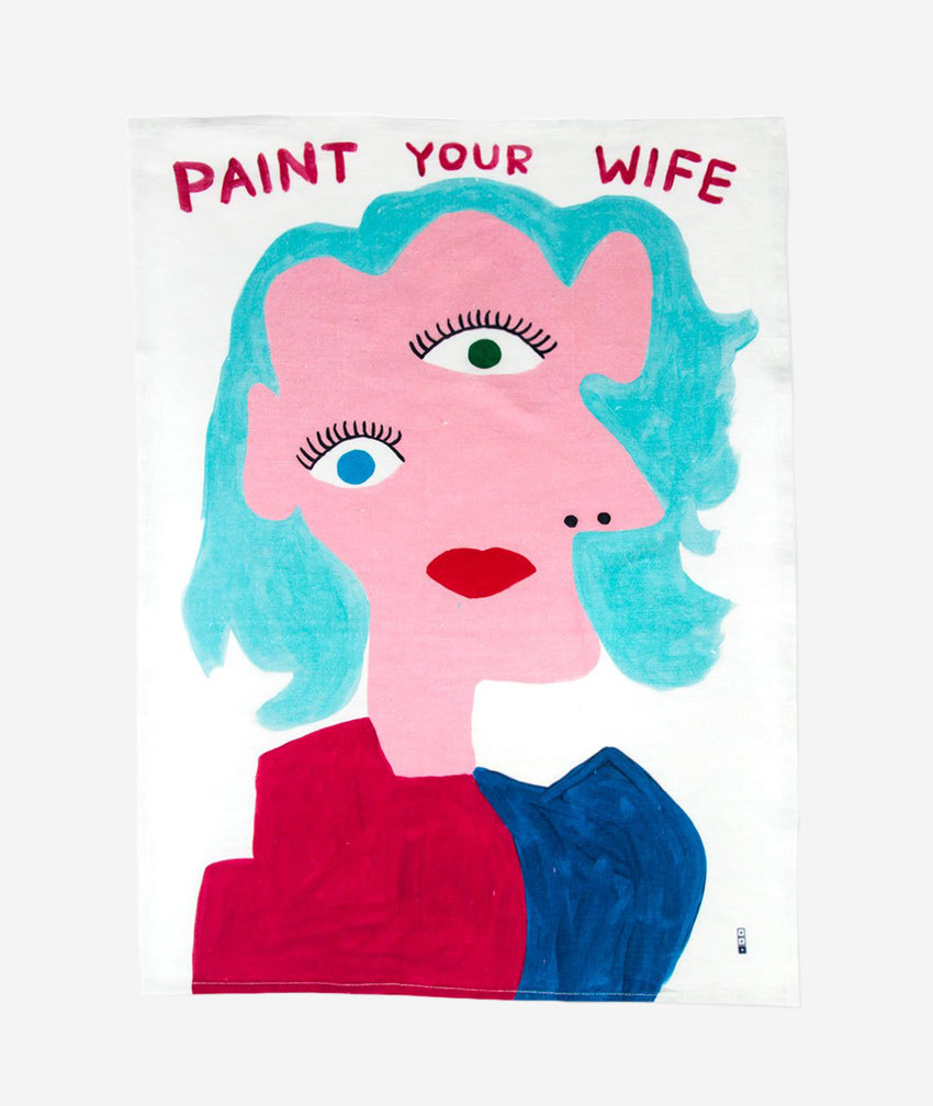 Paint Your Wife x David Shrigley Tea Towel Third Drawer Down - BEAM // Design Store