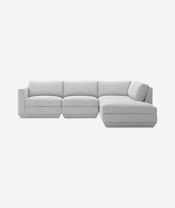 Podium Modular 4-PC Lounge Sectional A - 4 Colors