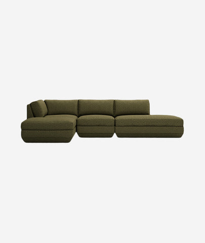 Podium Modular 4-PC Lounge Sectional B - 4 Colors