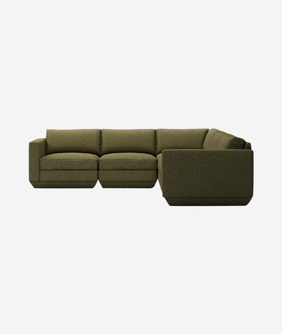 Podium Modular 5-PC Corner Sectional - 4 Colors