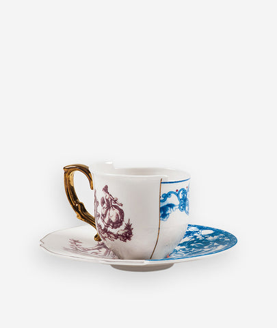 Hybrid Eufemia Espresso Cup With Saucer Seletti - BEAM // Design Store