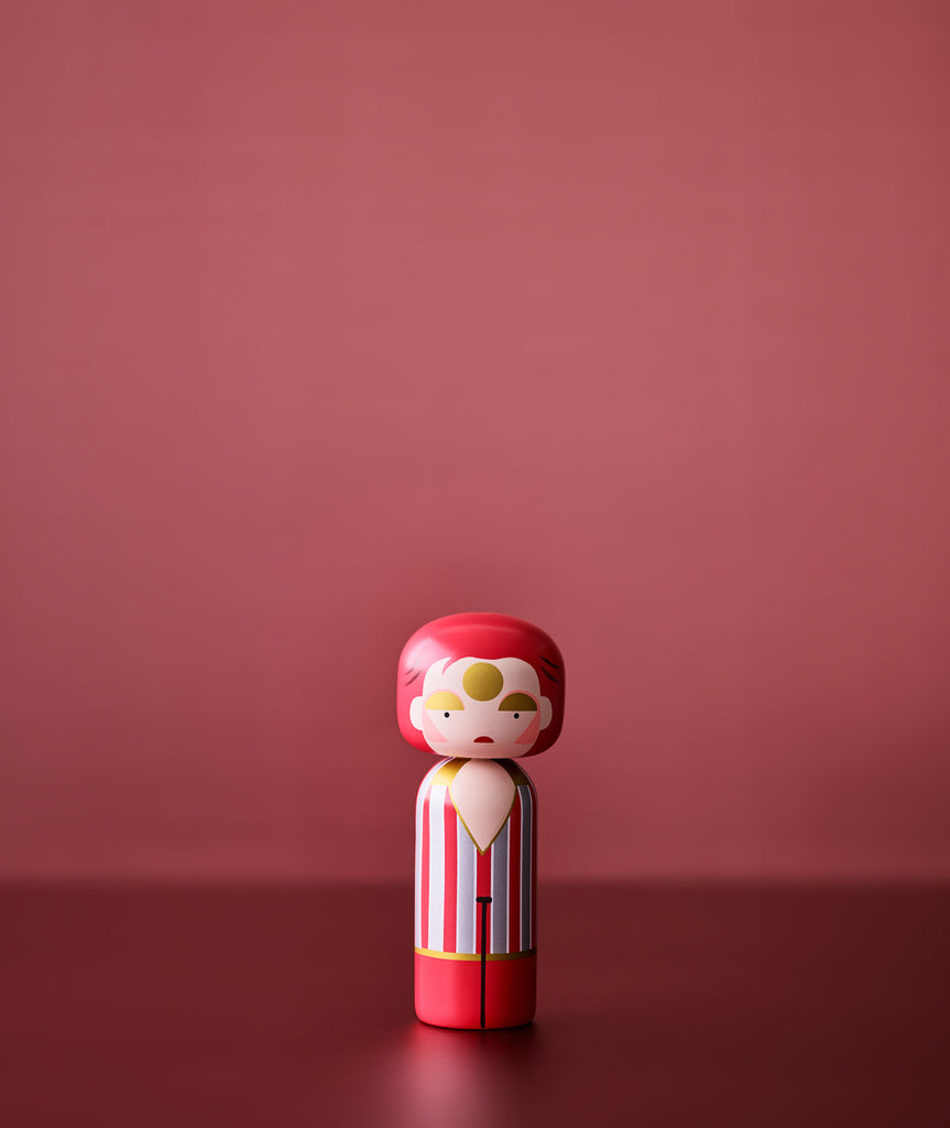 Ziggy Stardust Kokeshi Doll Sketch.inc for Lucie Kaas - BEAM // Design Store