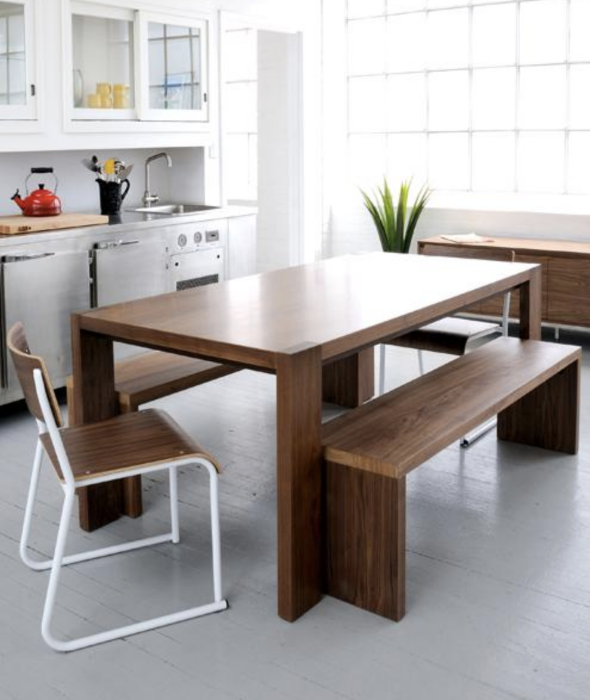 Plank Dining Table + Bench
