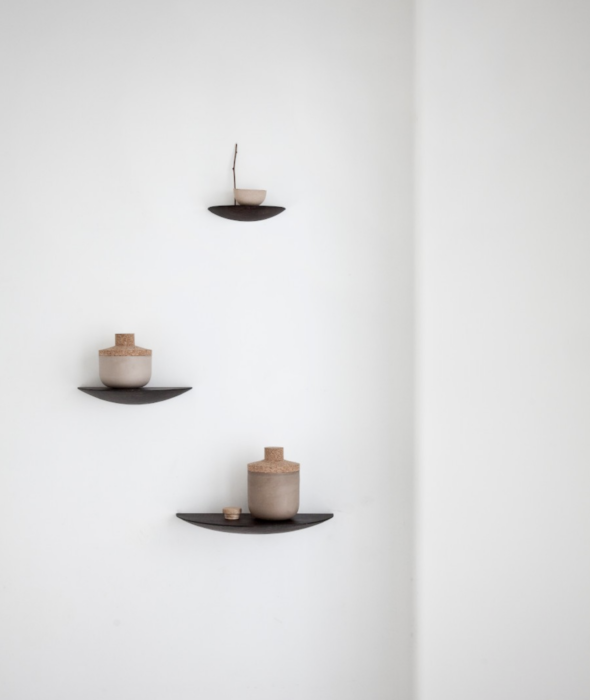 Gridy Fungi Shelves Black Menu - BEAM // Design Store